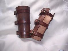 Hand made leather vambraces from Steam Generation   Made using 3mm veg tan leather, brass rivets and buckles and hand dyed