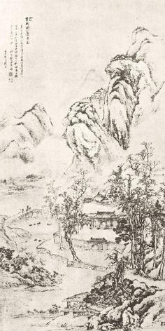 Antique chinese landscape. 0002.Nature print art par AntikArtPrints