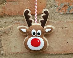 Fieltro adornos de Navidad adornos por TillysHangout en Etsy