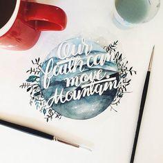 Entre peinture et typographie, je vous propose une sélection des créations douces et délicates de la graphic designerJune Digan, basée àManille auxPh