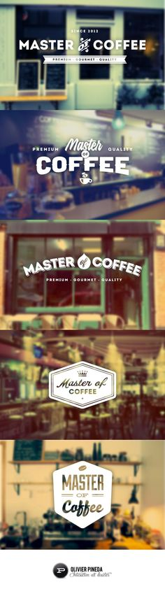 Master of Coffee by Olivier Pineda, via Behance