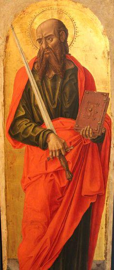 Bartolomeo Vivarini - Polittico di Sant' Ambrogio: San Paolo (pannello del) - 1477 - Gallerie dell'Accademia, Venezia