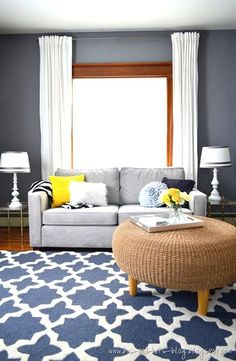 Gray, yellow, and navy color palette