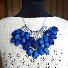 necklace blue silk cocoon. blue necklace. silk cocoons jewelry. necklace silk cocoon  Necklace, Bohemian Fashion Necklace,  Rope Necklace by batikelena on Etsy https://www.etsy.com/listing/236273143/necklace-blue-silk-cocoon-blue-necklace