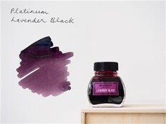 Platinum Classic Iron Gall Fountain Pen Ink (60 ml) - Lavender Black
