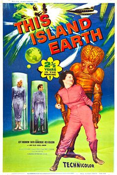"""THIS ISLAND EARTH MOVIE POSTER 12/"""" x 18/"""" VINTAGE"""