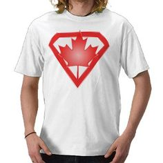 Canadian Flag Hero Shield, Canada Day shirt by godofapathy