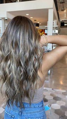 Balyage Long Hair, Blonde Hair With Highlights, Blonde Hair For Dark Hair, Blonde Brunette Hair, Dark Brown Hair With Blonde Highlights, Baby Highlights, Ashy Hair, Honey Blonde Hair, Balayage Highlights