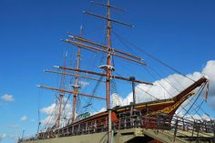 """""""Sygin"""", Finland. This Vessel is of particular Significance, being the only Original Wooden Three-Masted Barque Preserved"""