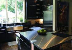You should consider stainless steel kitchen countertops. Stainless steel kitchen countertops gives a modern elegant look to your kitchen. Stainless Steel Countertops, Cheap Countertops, Stainless Steel Kitchen, Kitchen Countertops, Copper Counter, Laminate Counter, Quartz Counter, Wooden Counter, Concrete Counter
