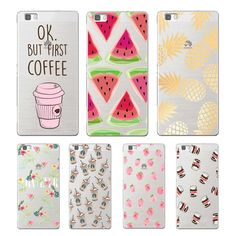 Delicious Fruits and Drinks soft TPU cover for huawei P8 P9 Lite NOVA MATE 8 9 honor 8 case for huawei p8 lite 2017 phone capa