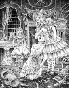 Cinderella and her two evil sisters by ~victor-jaquier on deviantART