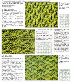 pontos novos em tricot - Pesquisa Google