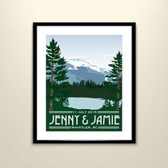 Ski Resort Poster Winter Wedding Idea | Brides.com