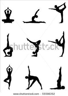 Silhouette Yoga poses - Pesquisa Google