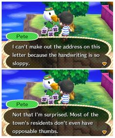 Animal Crossing ACNL LOL! STOP BREAKING THE FOURTH WALL. STOP IT.