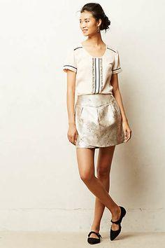 Anthropologie - Frosted Tulip Mini Skirt