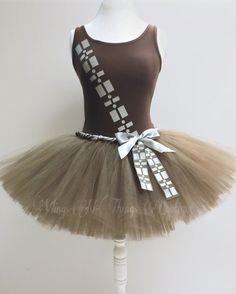 Adult WOOKIE COSTUME SET Tutu Skirt Tank Top by wingsnthings13