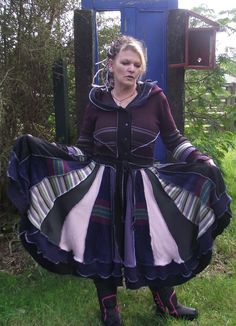 Up cycled elf coat Size 14/16 Adult