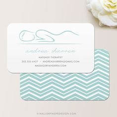 Masseuse Massage Therapist Business Card / Calling Card / Mommy Card ©MalloryHopeDesign