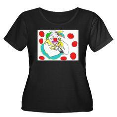 Dotty Dot Plus Size T-Shirt on CafePress.com