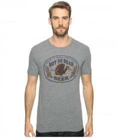 Lucky Brand - Bear Beer Graphic Tee (Grey) Men's T Shirt