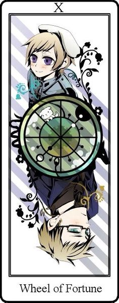 Hetalia Tarot Cards. The Wheel of Fortune Card X Sweden and Finland