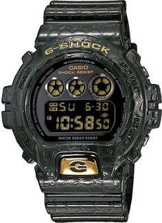 Mens Grey Crocodile Skin G-Shock watch // Free Shipping in Australia