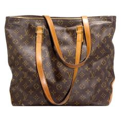 Resale-Riches - louis vuitton $1,220/monogram canvas cabas mezzo... ❤ liked on Polyvore
