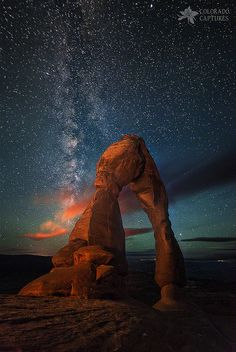 Nature's Delicate Balance by Mike Berenson - Colorado Captures on Delicate Arch at twilight; Night Photography, Nature Photography, Photography Ideas, Terre Nature, Beautiful World, Beautiful Places, Photo Usa, Ciel Nocturne, Delicate Arch