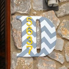House Number Ideas - Love the initial with the house number on it!