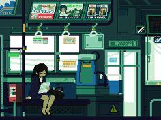 """O ilustrador japonês Toyoi Yuuta, mais conhecido comousuário """"1041uuu"""" no Tumblr, vem regularmente capturando a vida cotidiana japonesa de um jeito difere"""