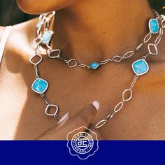 Everywhere a #TacoriGirl goes, she takes a little bit of the #turquoise #PacificOcean with her {Style: SN11405} #ShopIDC