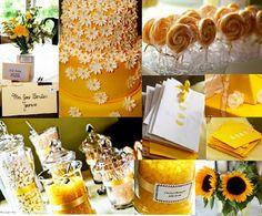 Mrs. Starfish's yellow and white tea themed shower Found on Weddingbee.com