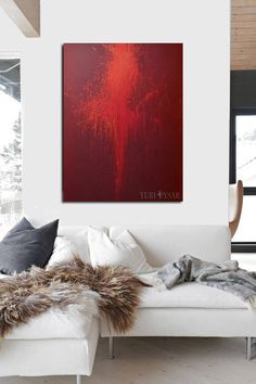 Red painting print canvas, LARGE wall art canvas, Giclee print ballerina art, Abstract art canvas by Yuri Pysar by Pysar on Etsy https://www.etsy.com/listing/496063005/red-painting-print-canvas-large-wall-art