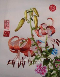 hand embroidered silk art, handmade embroidery painting, Suzhou China, Su Embroidery Studio