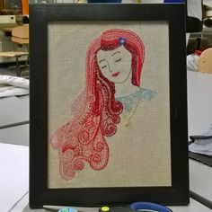Embroidery work for school's traditional handicrafts course. Got the best grade!