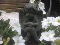 Engel in tuin