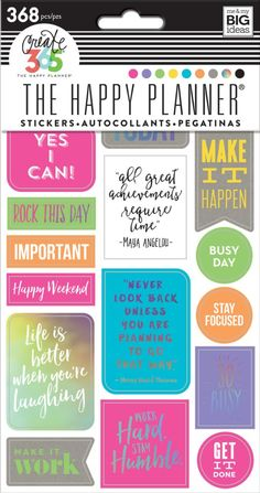 Create 365 The Happy Planner Stickers - Neon Rock This Day by Me & My Big Ideas for Planners, Bullet Journals, Scrapbooks, Cards and Crafting found at FotoBella.com