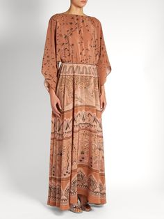 The Garden of Earthly Delights-print silk gown | Valentino | MATCHESFASHION.COM
