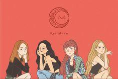 Mamamoo, Kpop Drawings, Red Moon, Kpop Fanart, Friend Pictures, K Idols, Korean Girl Groups, Cute Art, Chibi