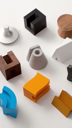 "Hangul( Korean alphabet) unit"" by BKID. Shape Design, 3d Design, Cube Design, Graphic Design, Module Design, Industrial Design, Furniture Design, Concrete Furniture, Stationery"