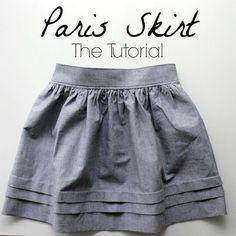 Paris Skirt tutorial. Free sewing tutorial.