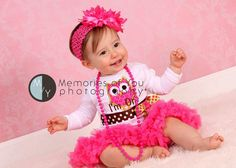 Birthday Owl Bodysuit First Birthday Pink Brown by whimsytots, $31.50