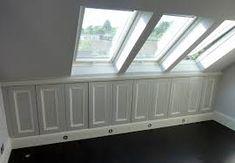 Afbeeldingsresultaat voor under eave storage solutions Eaves Storage, Storage Solutions, Bench, Furniture, Home Decor, Decoration Home, Shed Storage Solutions, Room Decor, Loft Storage
