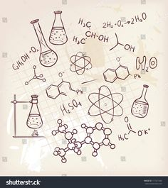 Vector Illustration Of Hand Draw Chemistry On Background Royalty Free Cliparts, Vectors, And Stock Illustration. Chemistry Drawing, Chemistry Tattoo, Chemistry Art, Science Tattoos, Chemistry Projects, Chemistry Quotes, Chemistry Gifts, Chemistry Experiments, Organic Chemistry