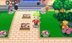 mischacrossing: Wide Cream Brick Path (source) ... - Animal Crossing New Leaf