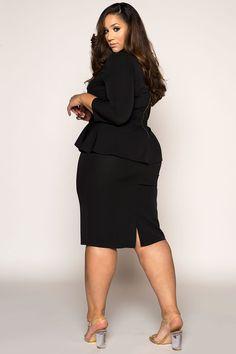 Plus Size Outfits – Lady Dress Designs Midi Dress Plus Size, Plus Size Dresses, Plus Size Outfits, Curvy Women Fashion, Plus Size Fashion, Womens Fashion, Fashion 2016, Ladies Fashion, Moda Xl