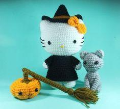 PDF Pattern Amigurumi Hello Kitty Halloween Witch. $7.00, via Etsy.