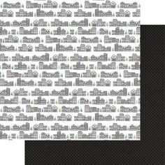 Reminisce RETRO SUITCASES 12x12 Dbl-Sided Scrapbooking Paper TRAVEL 2PCS
